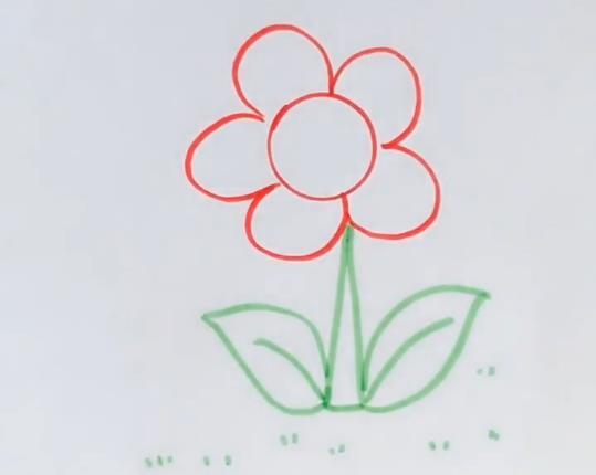 花朵简笔画图片 彩色花朵画法视频教程