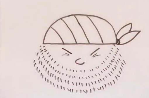 海盗简笔画图片 半圆画海盗画法视频教程